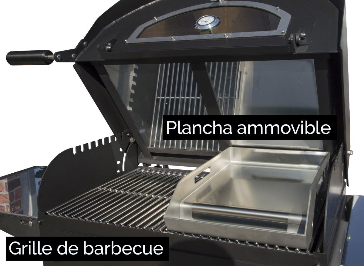 Four à bois convertible en barbecue