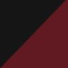 Noir givré et rouge bordeaux